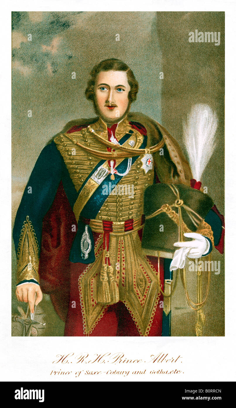 Prince Albert 11th Hussars in the uniform of his own regiment which took part in the Charge of the Light Brigade - Stock Image