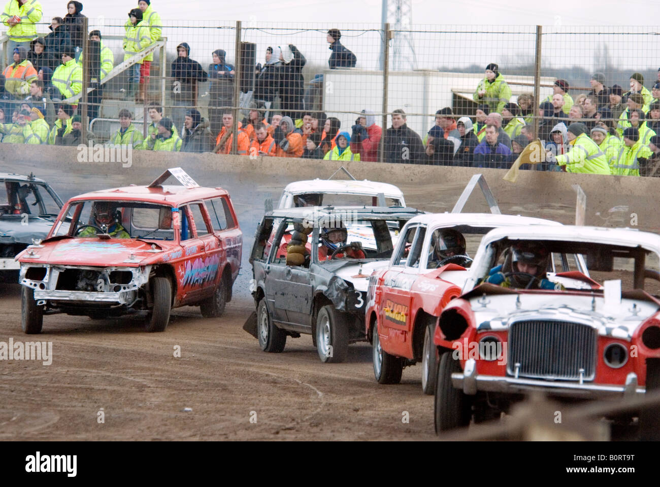 banger racing stock car track demoltion derby destruction race old ...