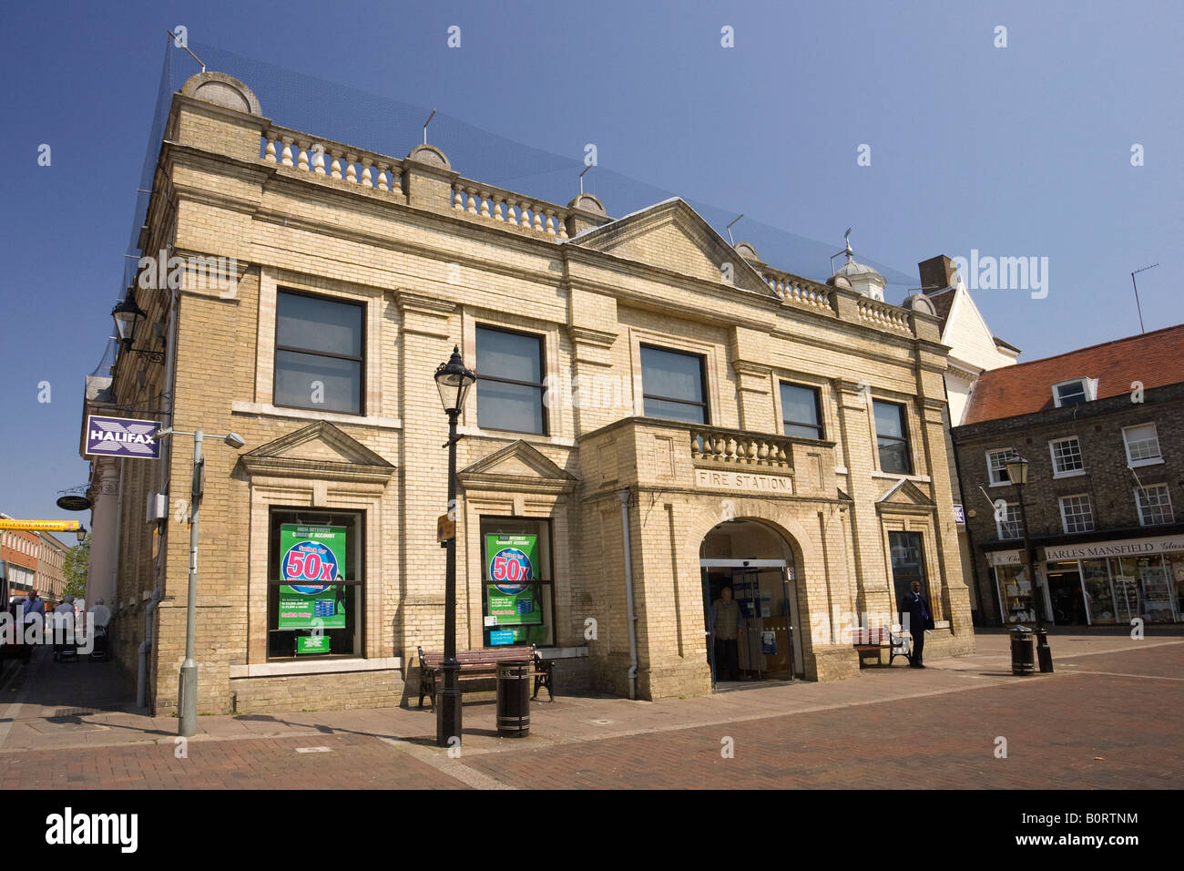 the Cornhill area in Bury St Edmunds, Suffolk, UK - Stock Image