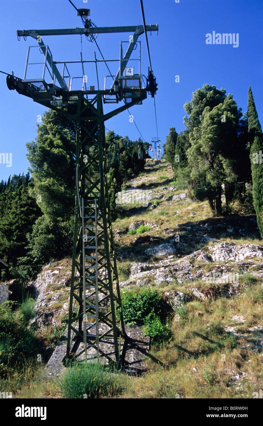 funivia colle eletto, gubbio, province of perugia, umbria, italy - Stock Image
