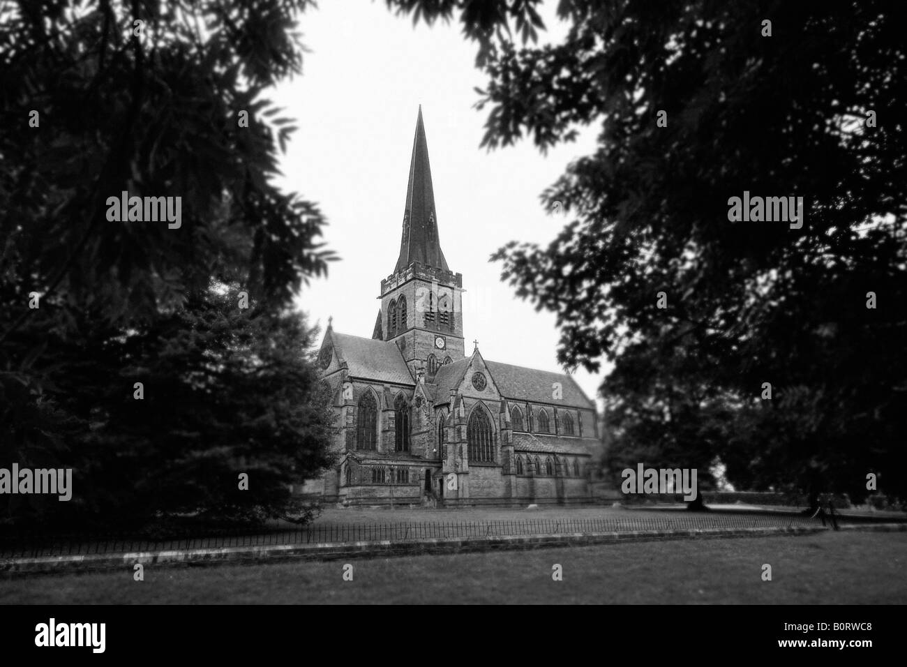 The Holy Trinity Church, Wentworth, Rotherham. - Stock Image