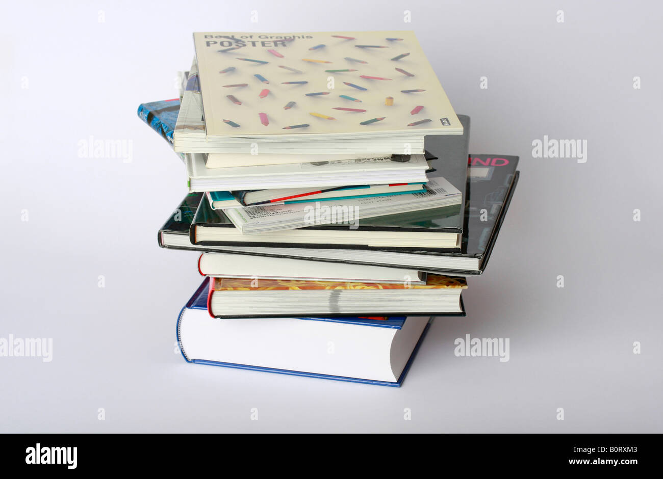 clip image pile of books editorial use only - Stock Image