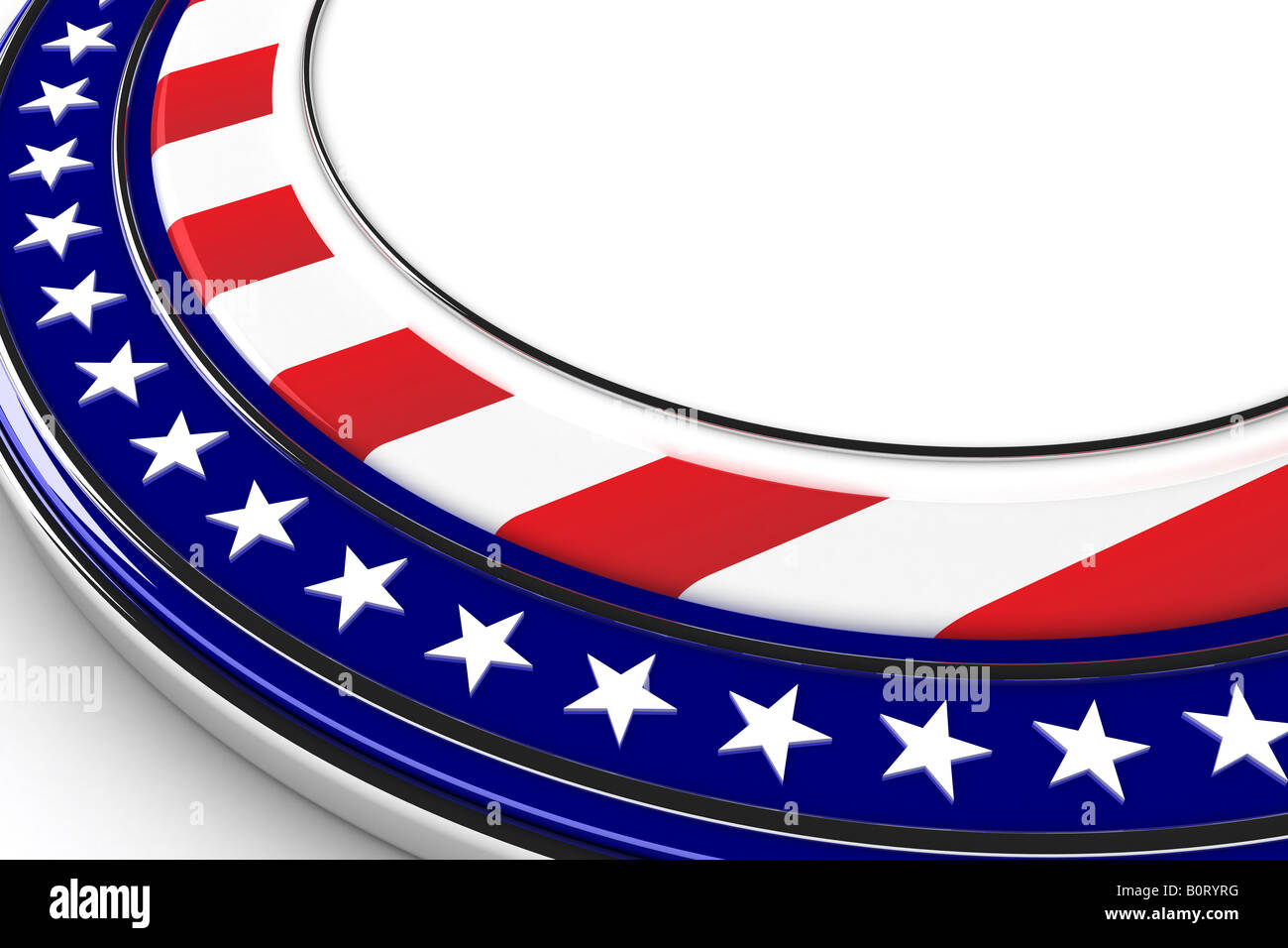 US elections button with white space for custom message - Stock Image