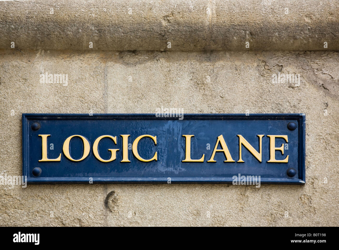 Logic Lane by University College and the High Street Oxford Oxfordshire England UK - Stock Image