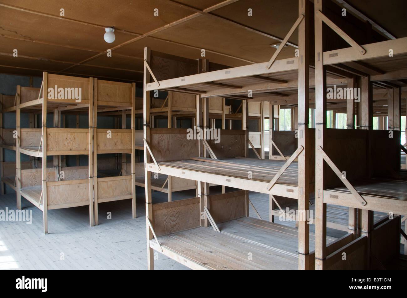 Picture of: Wooden Triple Bunks Inside Prisoners Barracks In Dachau Stock Photo Alamy