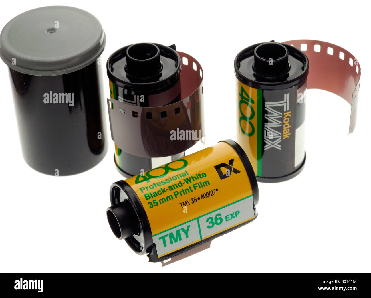 Rolls of Kodak Black and White 35mm Film Stock Photo