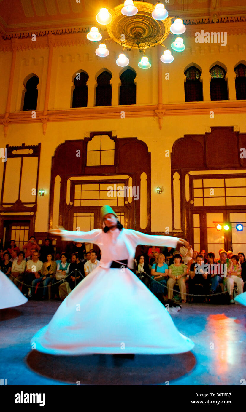 Whirling dervishes in Istanbul - Stock Image