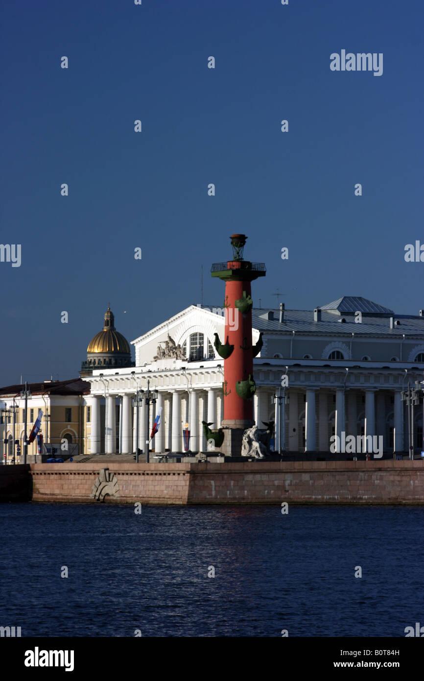 Spit of the Vasilievsky island, Saint Petersburg, Russia Stock Photo