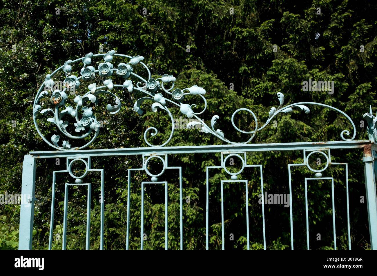 Gates at Schloss Benrath Stock Photo