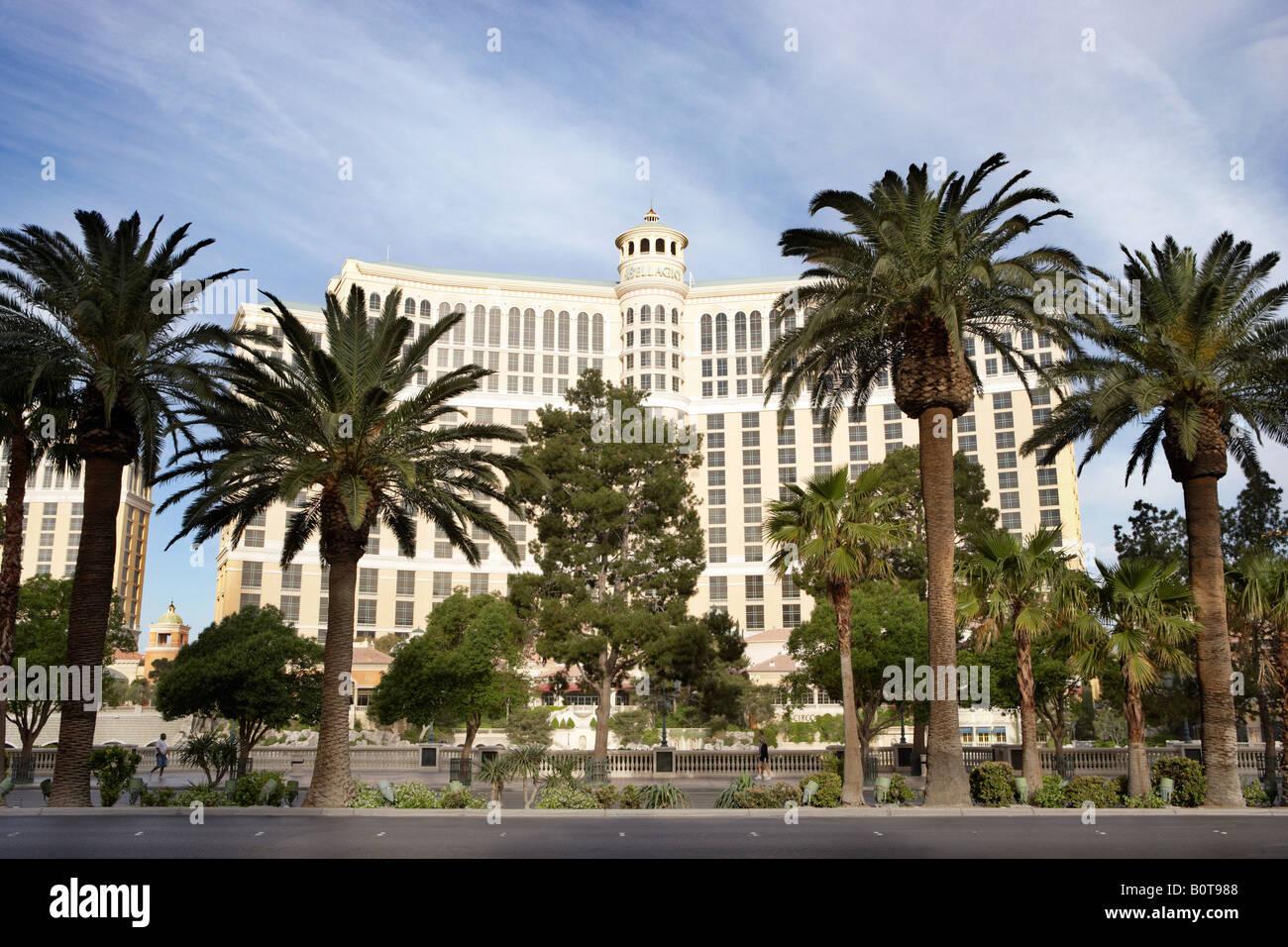 View of Bellagio Hotel Casino in Las Vegas Nevada USA - Stock Image