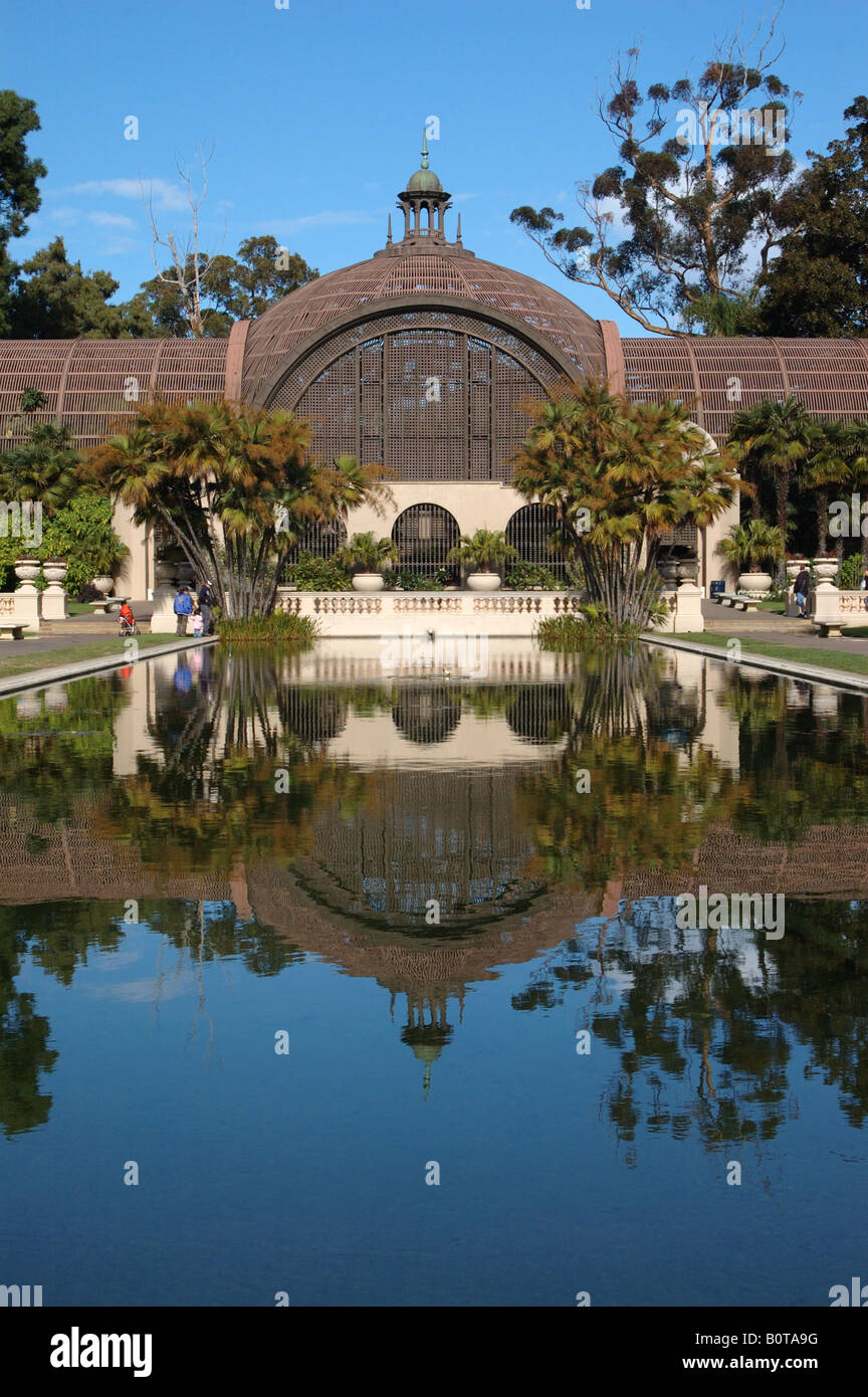 San Diego Botanical Building and Lily Pond at Balboa Park in Stock ...