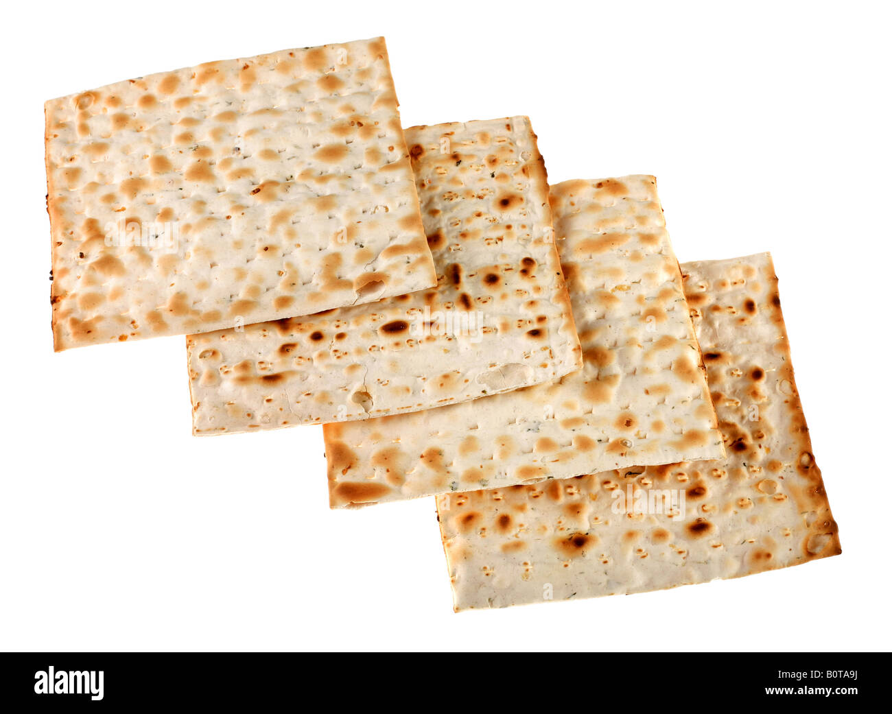 Unleavened bread traditional isolated on white background - Stock Image