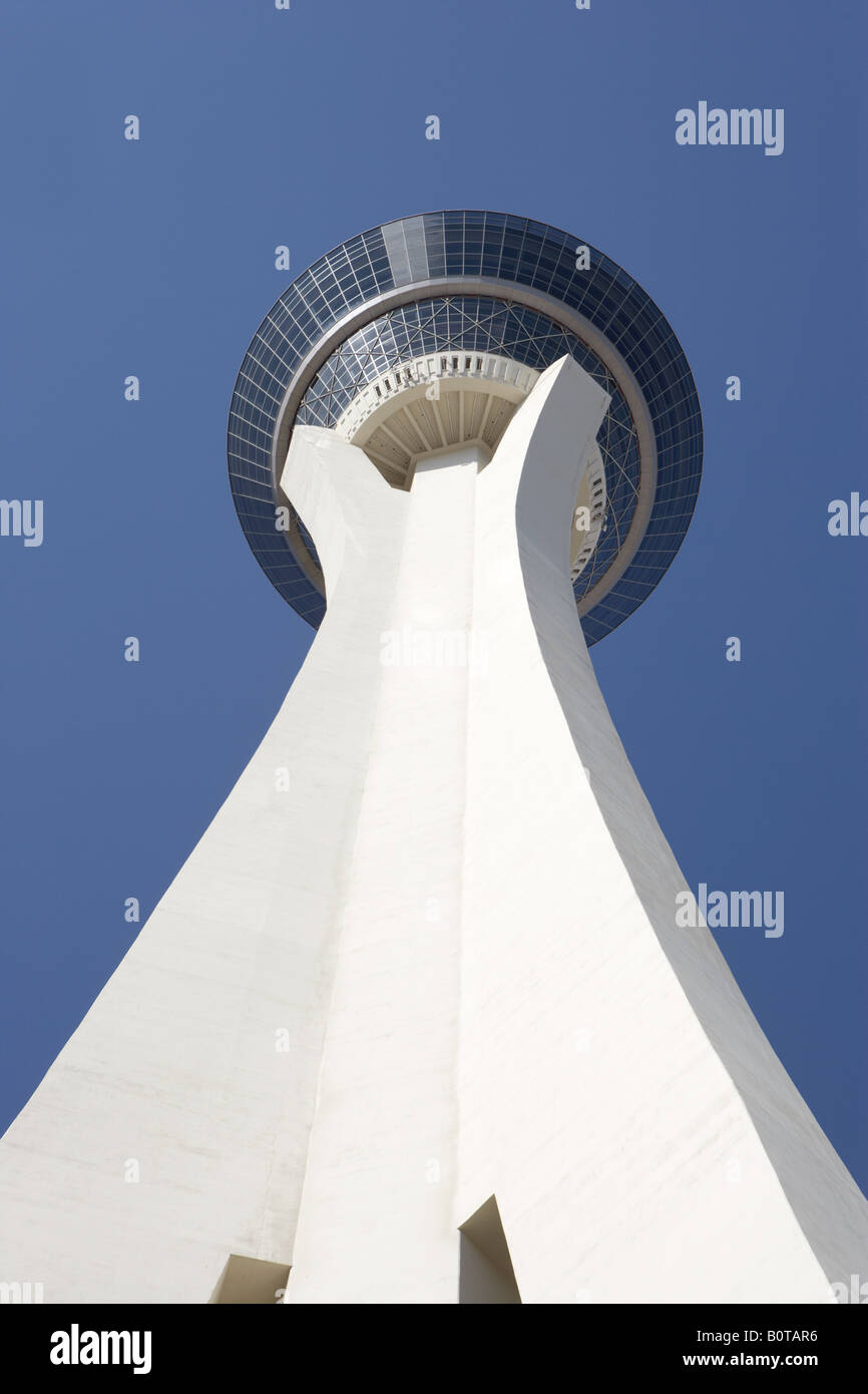 View of Stratosphere in Las Vegas Nevada USA - Stock Image