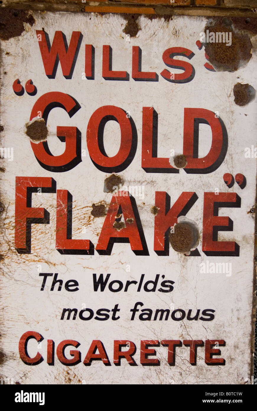 Wills Gold Flake Cigarette Sign - Stock Image