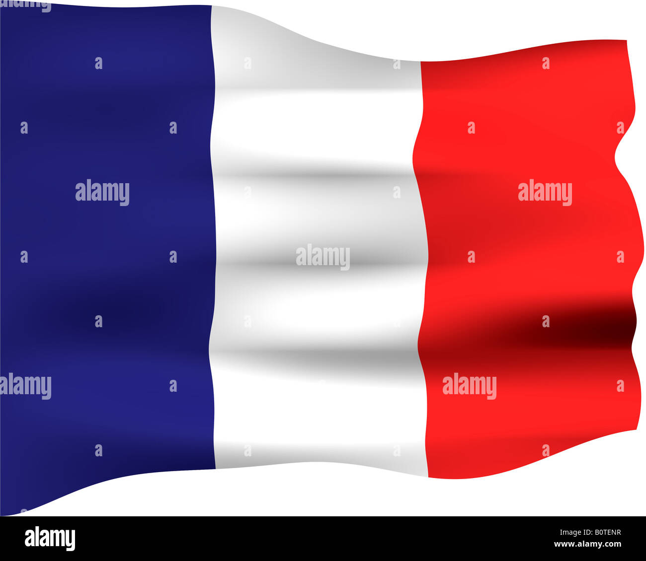 3d flag of France - Stock Image