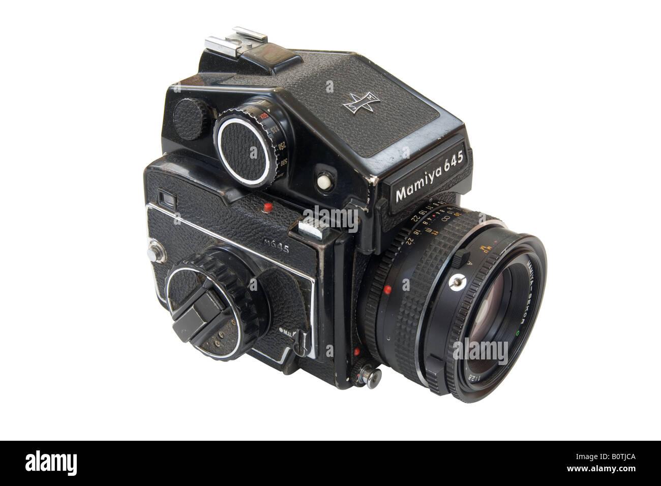 iconic Mamiya 645 medium format camera - Stock Image
