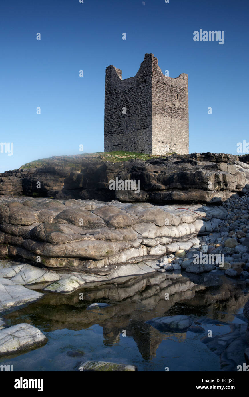 o'dowd roslea roslee castle home of the ODowd chieftains built in 1207 easkey county sligo republic of ireland Stock Photo