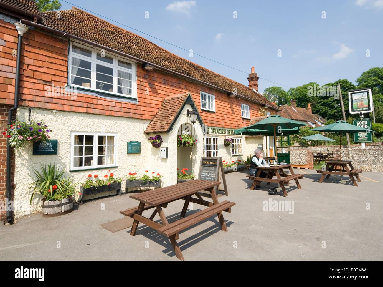 Bucks Head Village Pub Meonstoke Hampshire UK - Stock Image