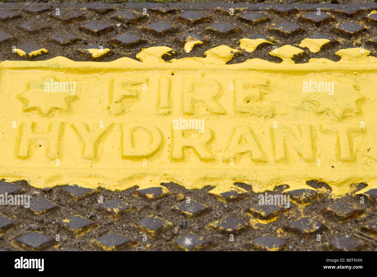 Fire hydrant sign, UK. - Stock Image