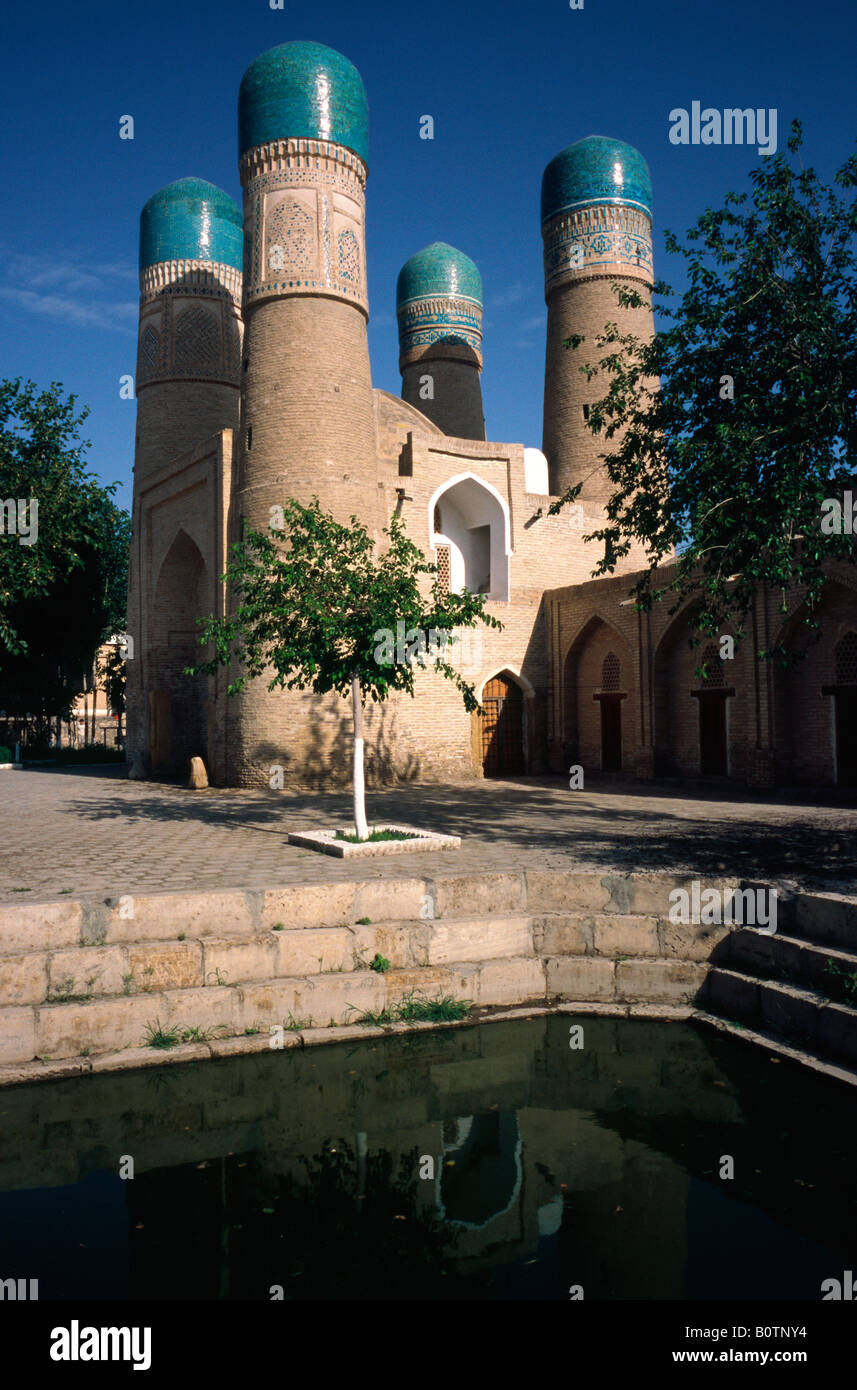 May 14, 2006 - The mosque of Chor Minor in the ancient Uzbek city of Bukhara. - Stock Image