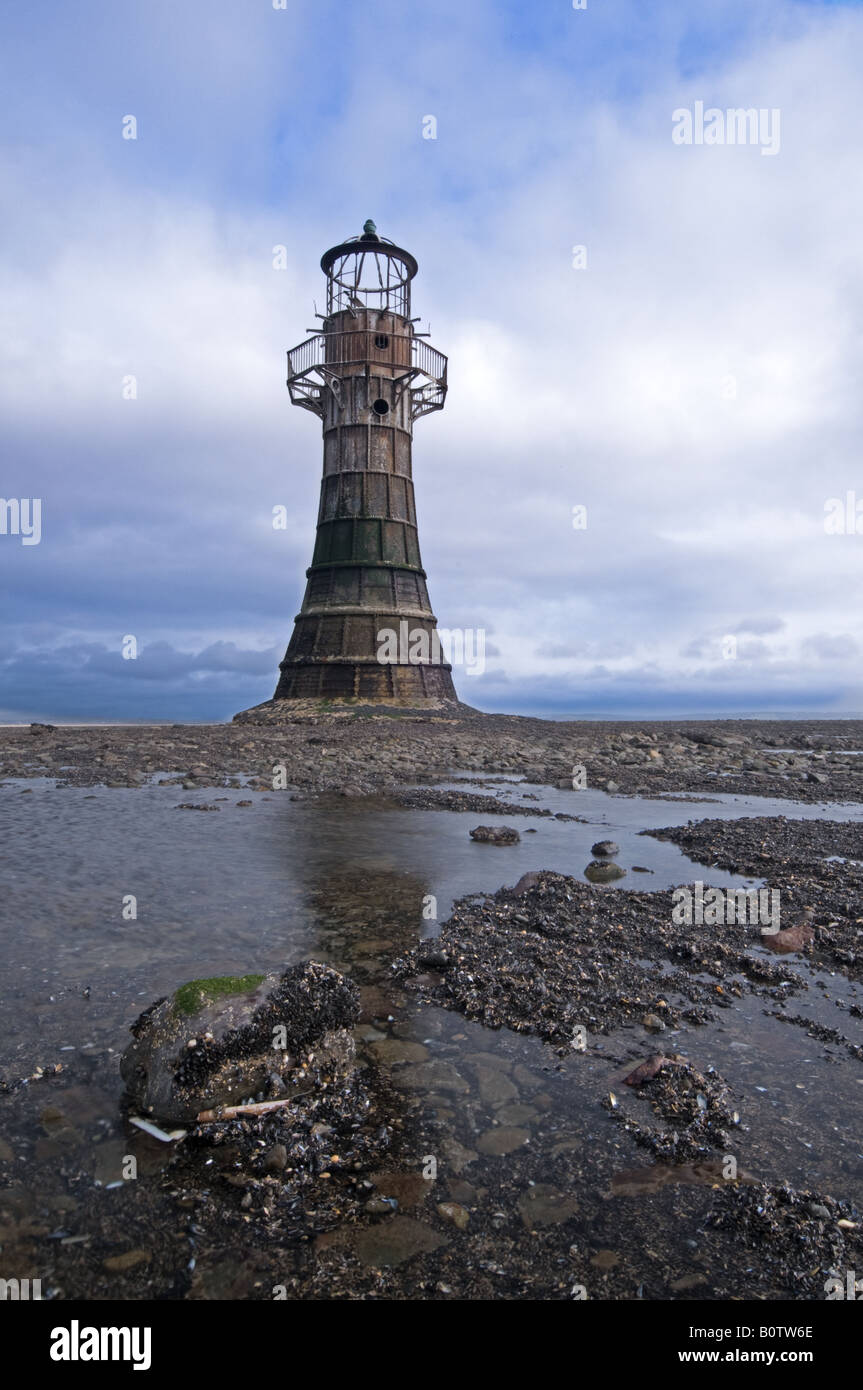 Whiteford Point lighthouse, Gower Stock Photo