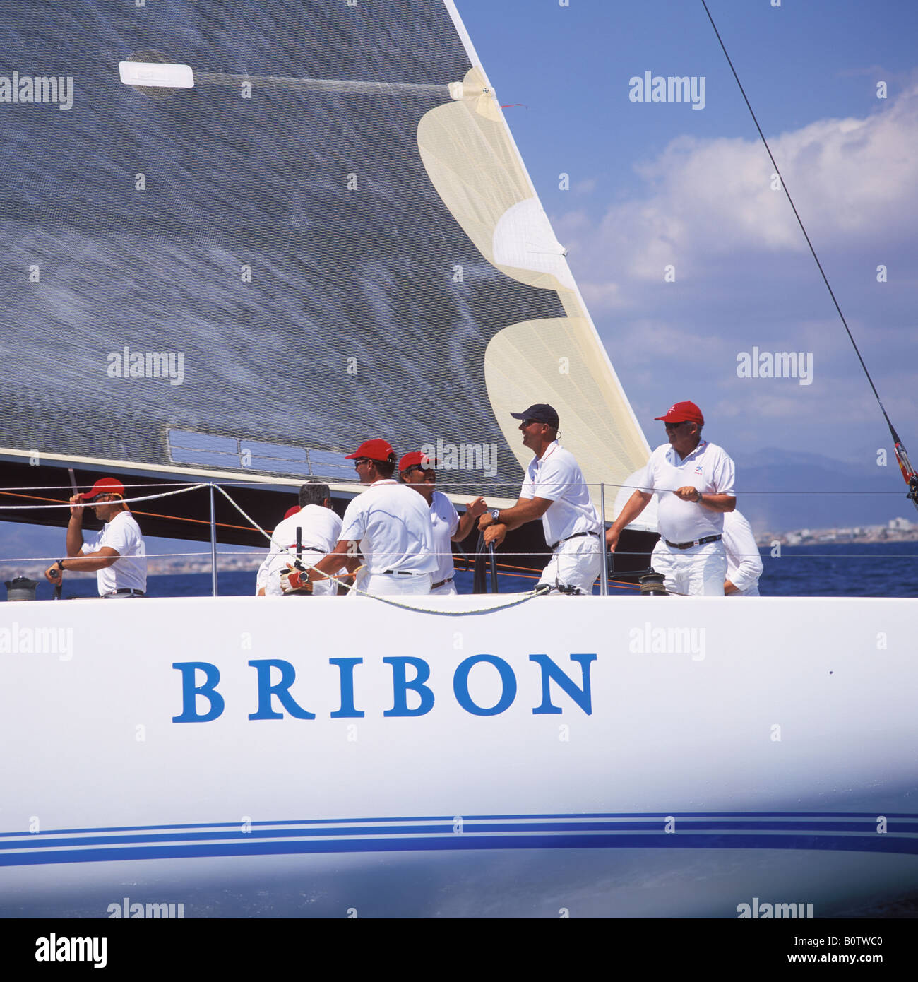 Bribon in IMS 500 category skippered by His Majesty King Juan Carlos of Spain during 22nd Copa Del Rey Kings Cup - Stock Image