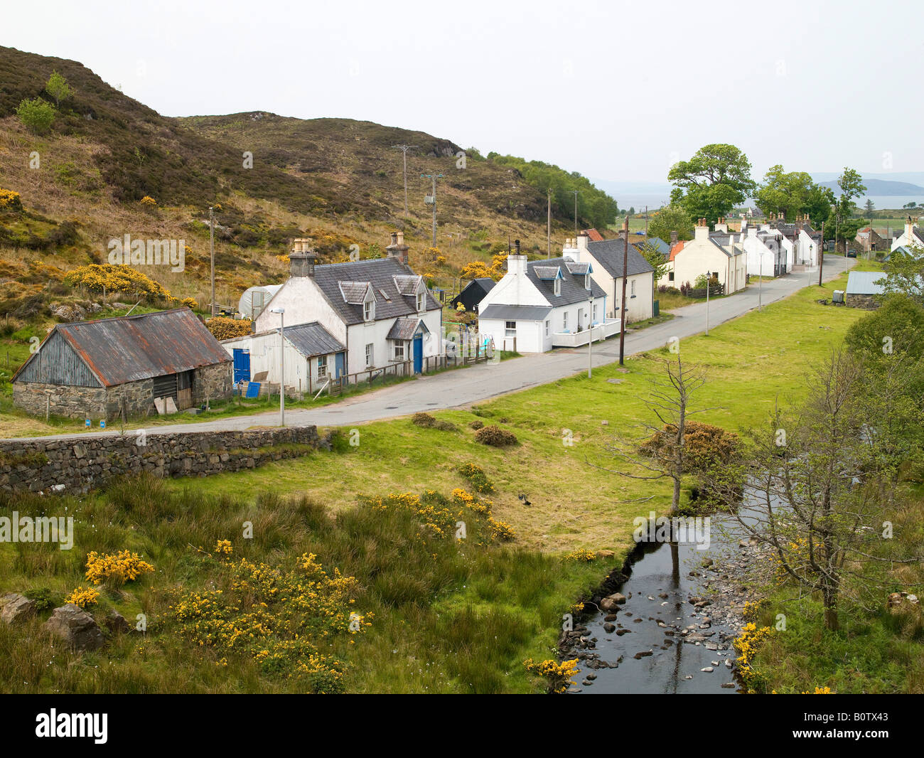 Croft Houses, Duirinish, Nr Kyle of Lochalsh, Ross-Shire, Highland Scotland - Stock Image