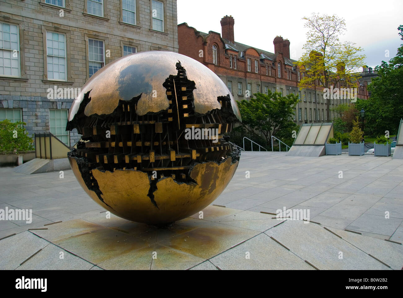 Sphere Within Sphere Trinity College Dublin - Stock Image