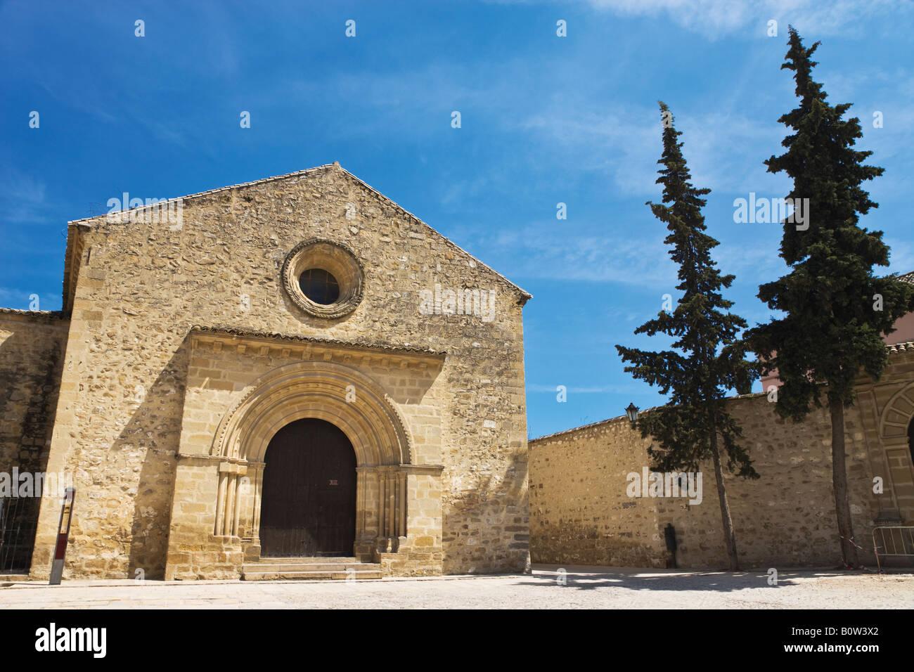 Baeza Jaen Province Spain Romanesque Iglesia de Santa Cruz - Stock Image