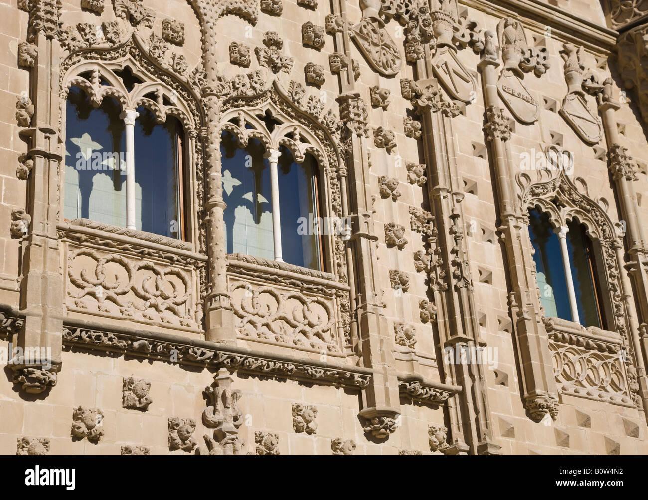 Baeza Jaen Province Spain facade of Universidad Internacional de Andalucia Antonio Machado in the Palacio de Jabalquinto - Stock Image