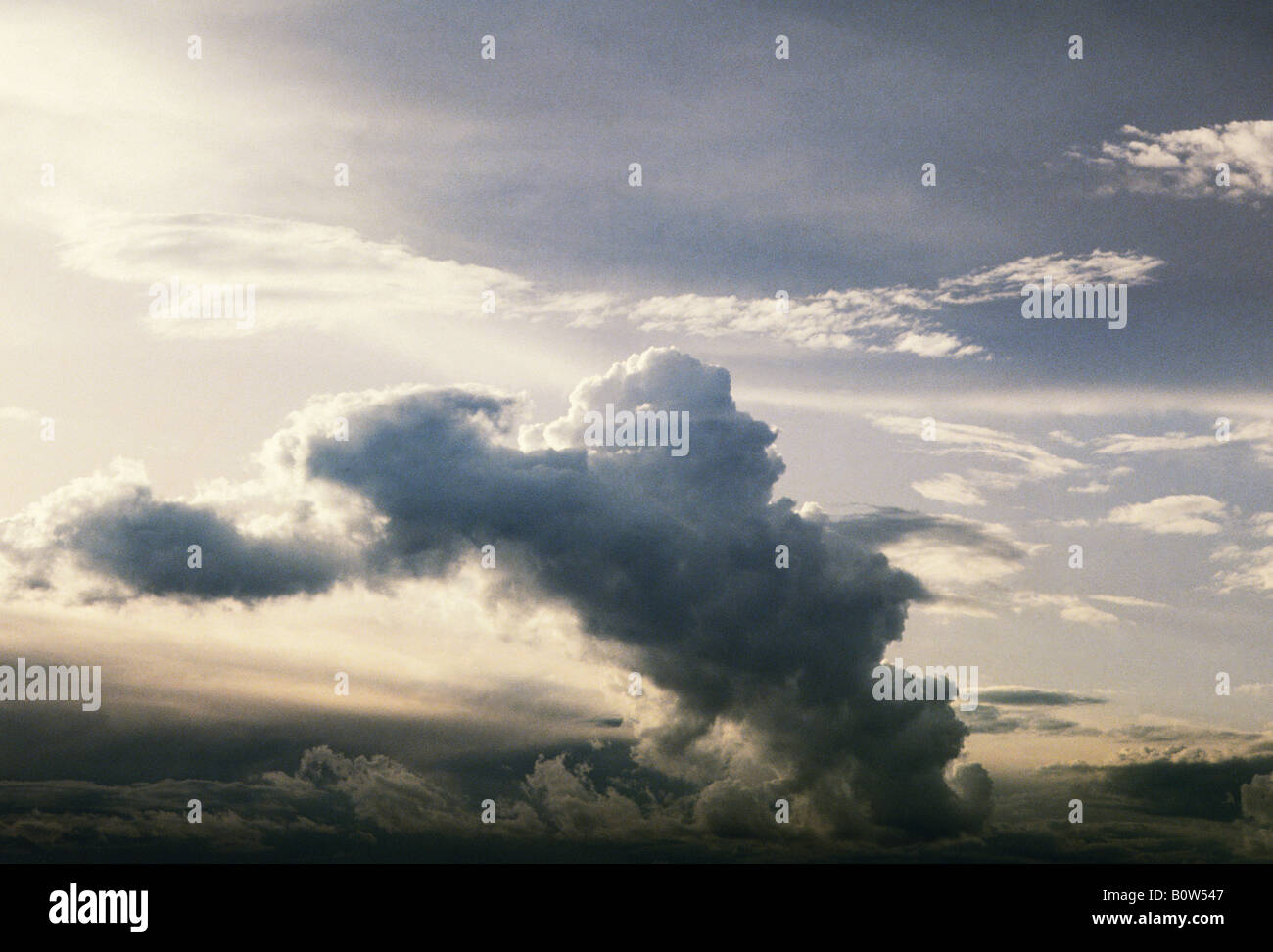 Dramatic Sky Dark Clouds Sandra Baker - Stock Image