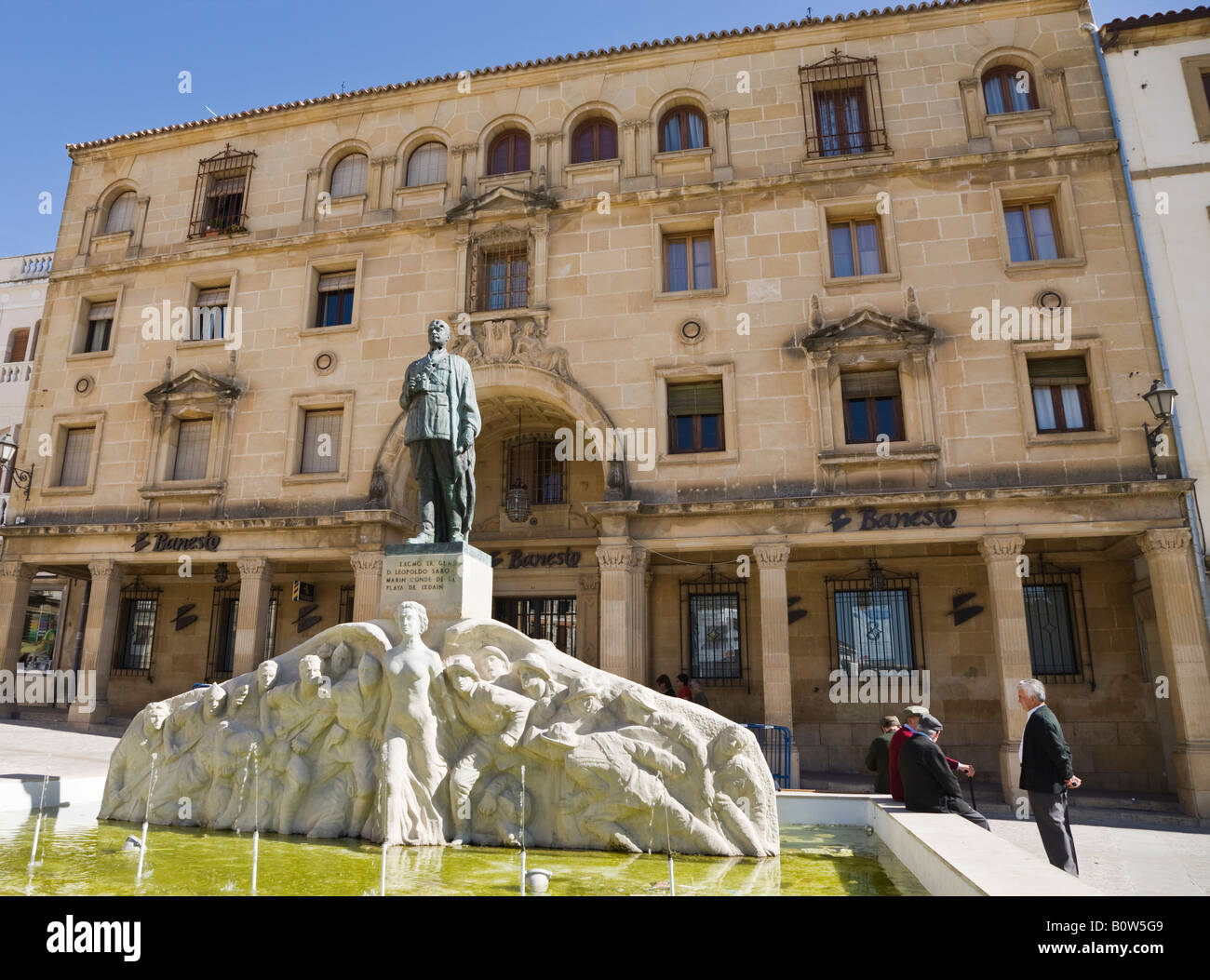 Ubeda Jaen Province Spain Monument to General Leopoldo Saro Marin 1878 to 1936 in Plaza de Andalucia Stock Photo