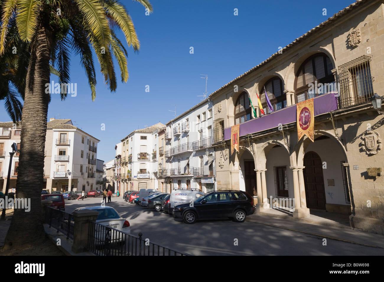 Baeza Jaen Province Spain Casas Consistoriales Bajas and Balcón de Concejo - Stock Image