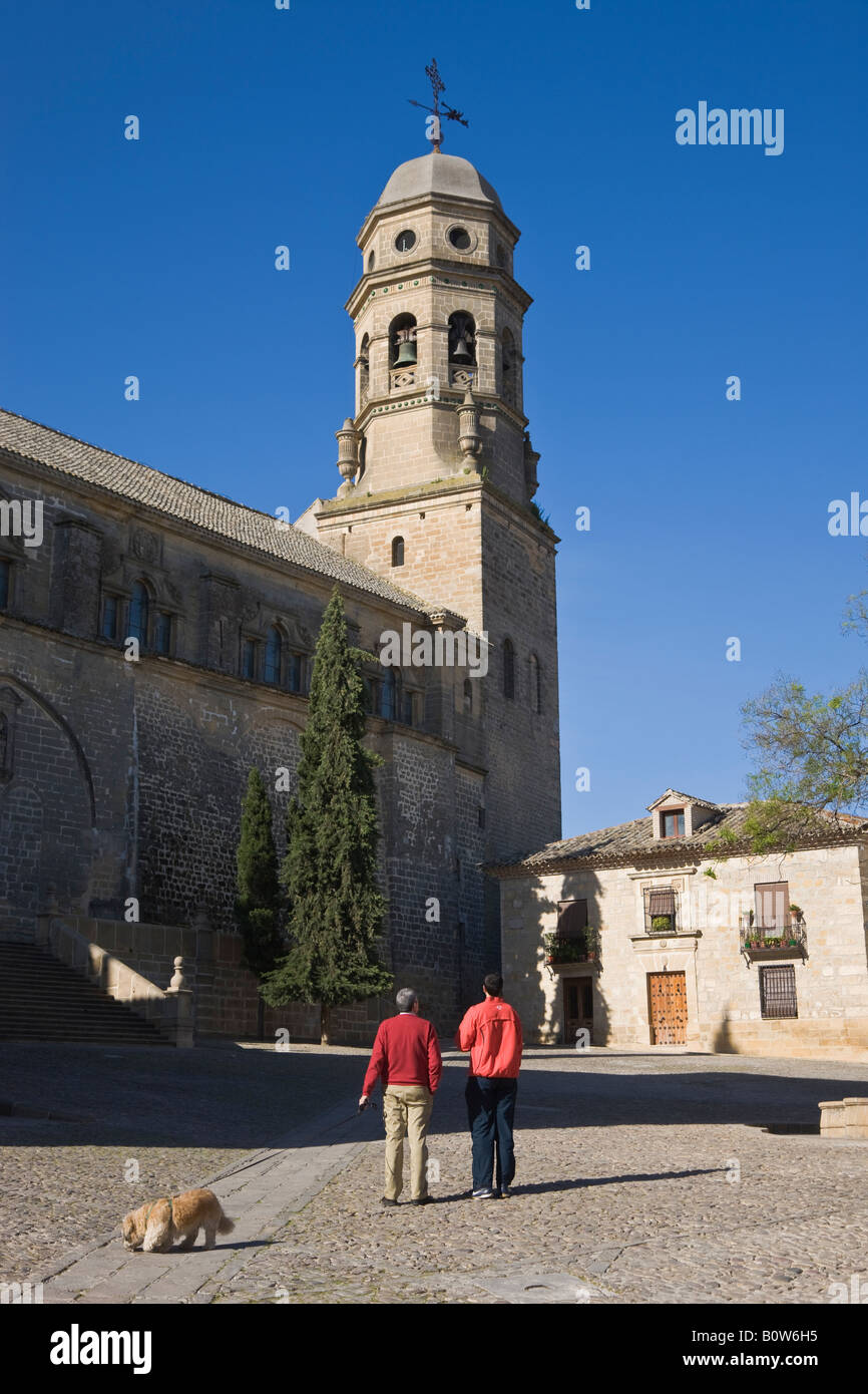 Baeza Jaen Province Spain Cathedral in Plaza de Santa Maria - Stock Image