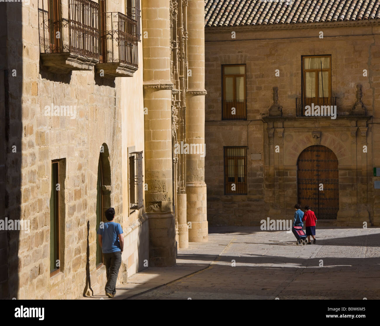 Baeza Jaen Province Spain Universidad Internacional de Andalucia Antonio Machado in the Palacio de Jabalquinto to - Stock Image