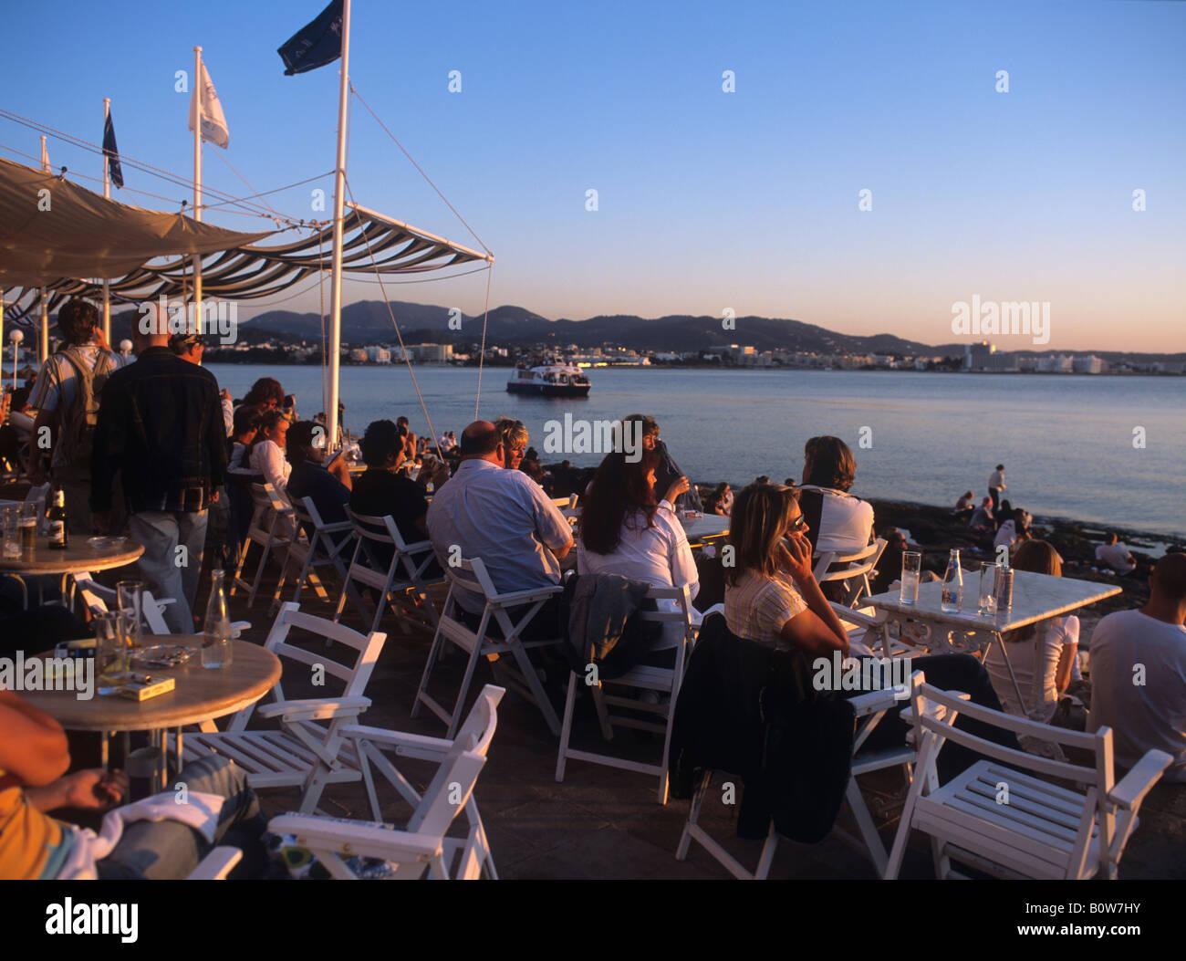 Café del Mar, Ibiza, Balearic Islands, Spain - Stock Image