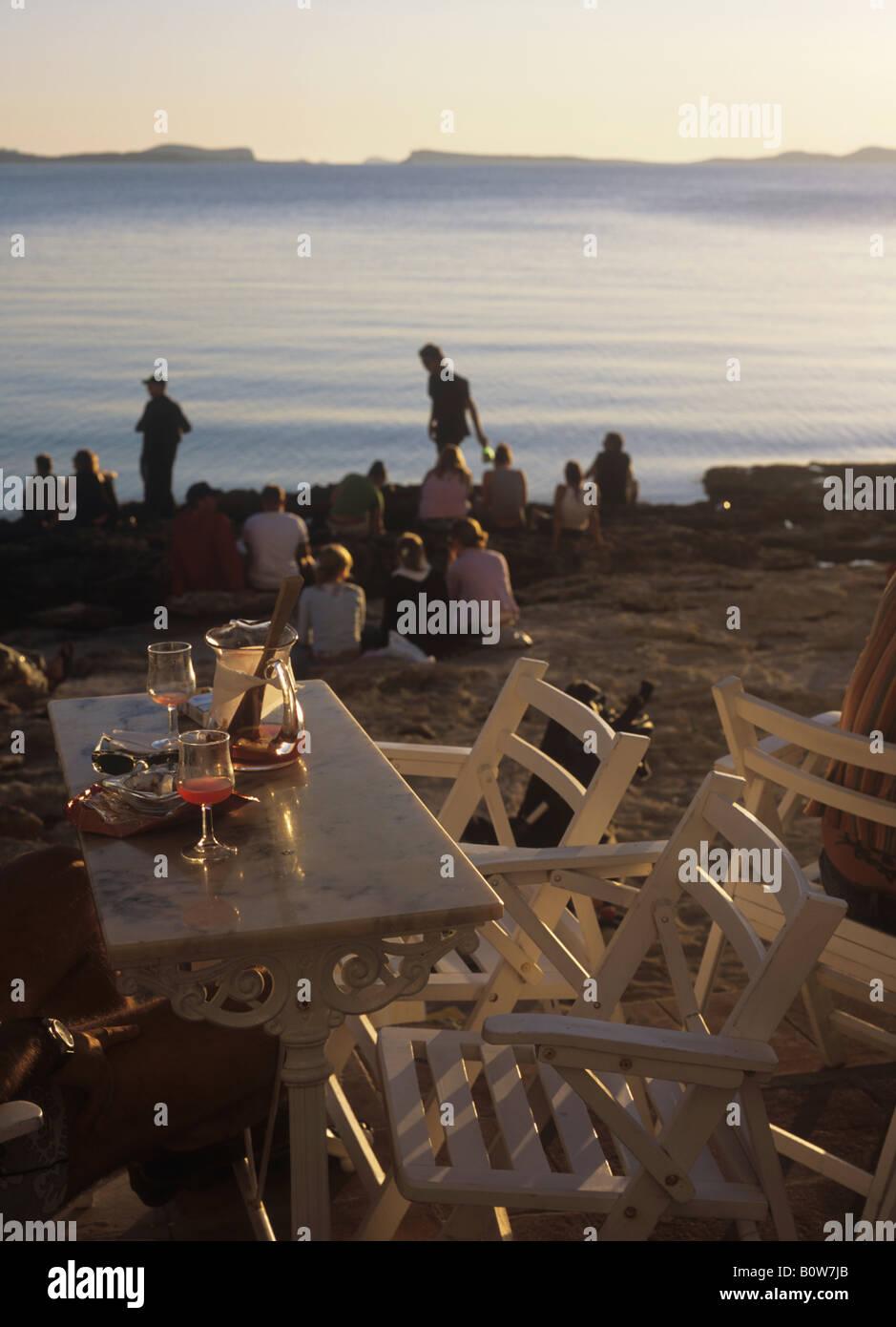 Café del Mar, Ibiza, Balearic Islands, Spain, Europe - Stock Image