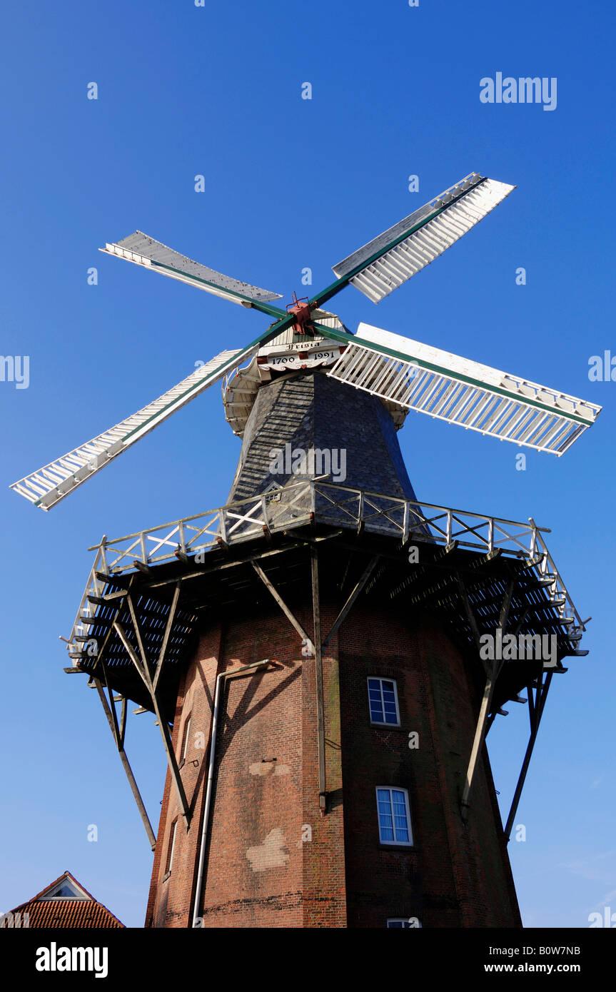 Frisia-Muehle, Frisia Windmill, Norden, East Frisia, Lower Saxony, Germany, Europe - Stock Image