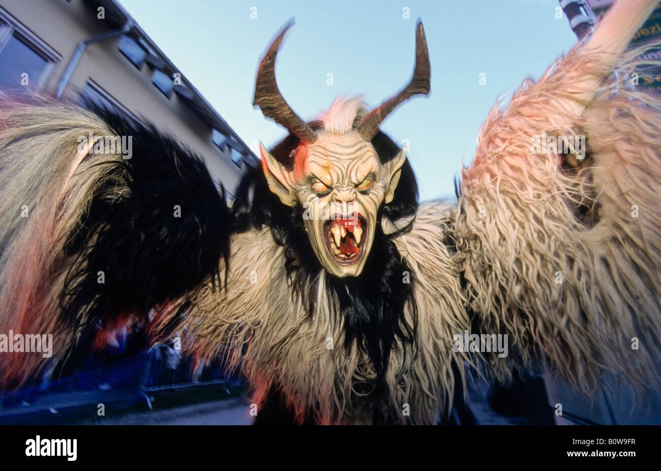 Krampus Or Devil Mask Carved Wooden Mask Mils Tyrol Austria