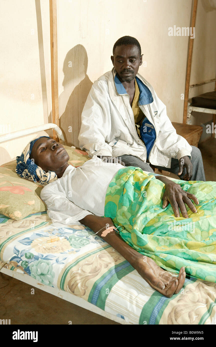 HIV/AIDS Patient In Hospital, Garoua, Cameroon, Africa   Stock Image