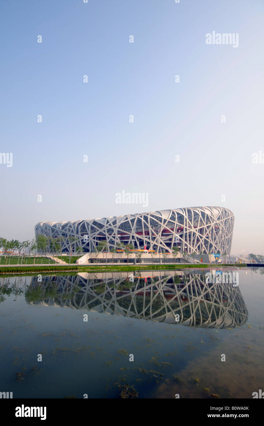 Beijing Olympic China National Stadium The Birds Nest Stock Photo