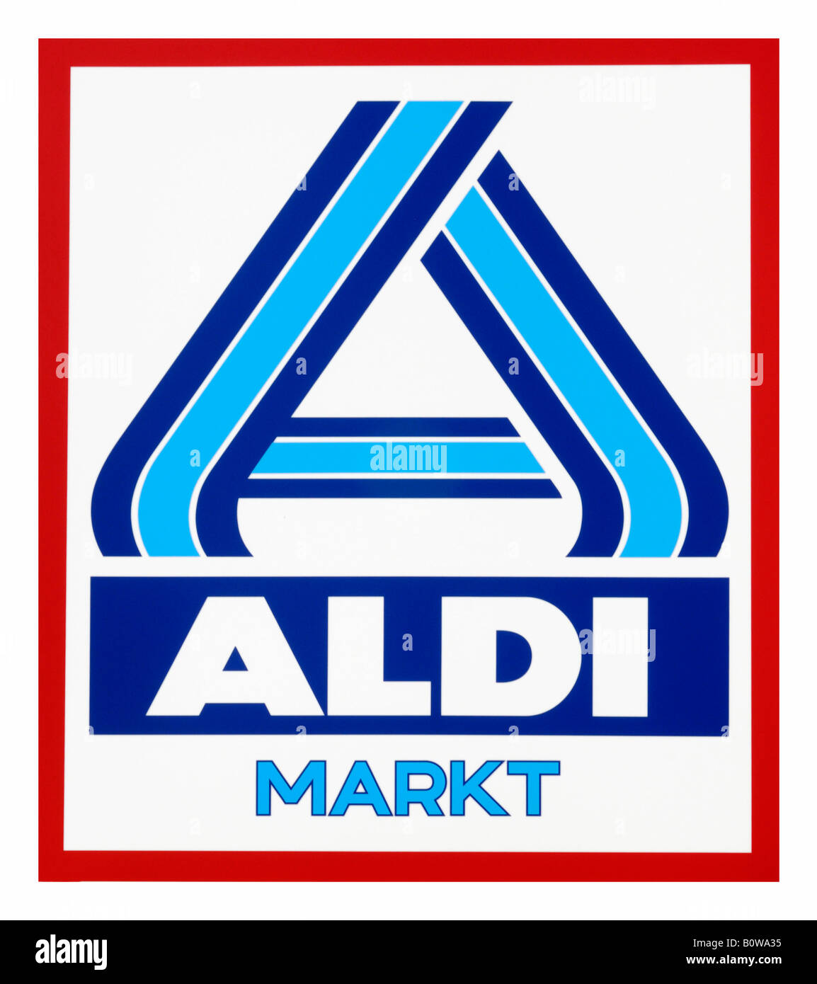 Aldi logo, discount grocery or supermarket chain Stock Photo