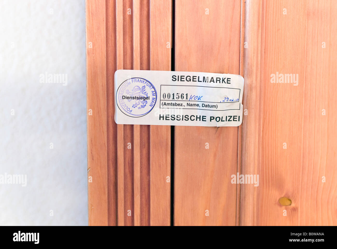 Flat sealed off by the CID police, Hesse, Germany, Europe Stock Photo