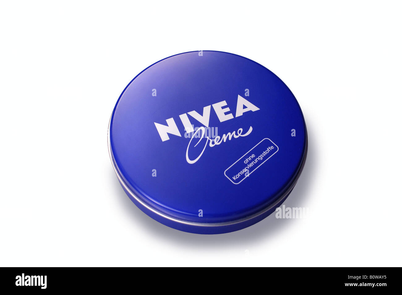 Nivea brand skin cream tin - Stock Image