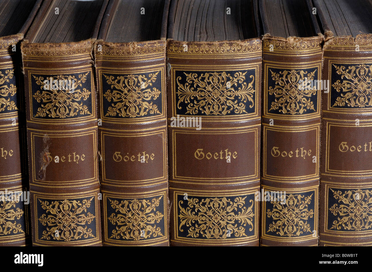 Old classics edition books, Goethe - Stock Image
