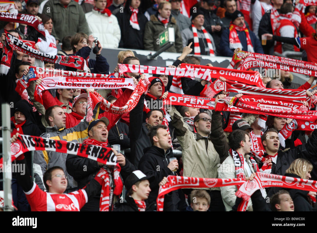 Soccer, 2. Bundesliga, second German football league, 1.FC Kaiserslautern, Kickers Offenbach, Offenbacher Kickers - Stock Image