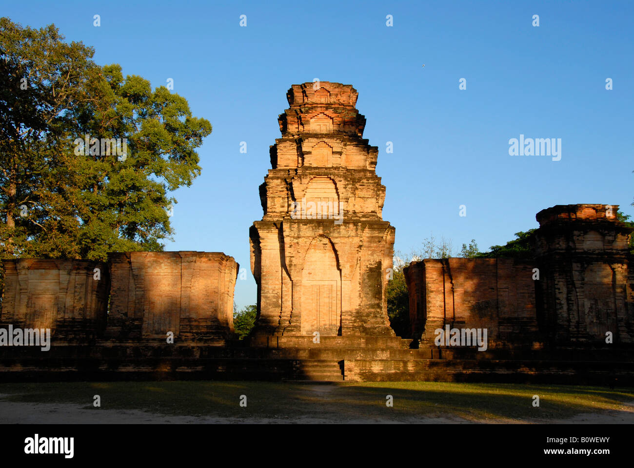 Ancient Khmer temple in the evening light, Angkor, Cambodia, Southeast Asia Stock Photo
