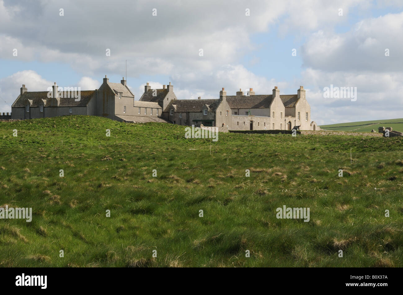 Skaill House on mainland Orkney facing the Bay of Skaill was built in stages beginning in 1620. Stock Photo