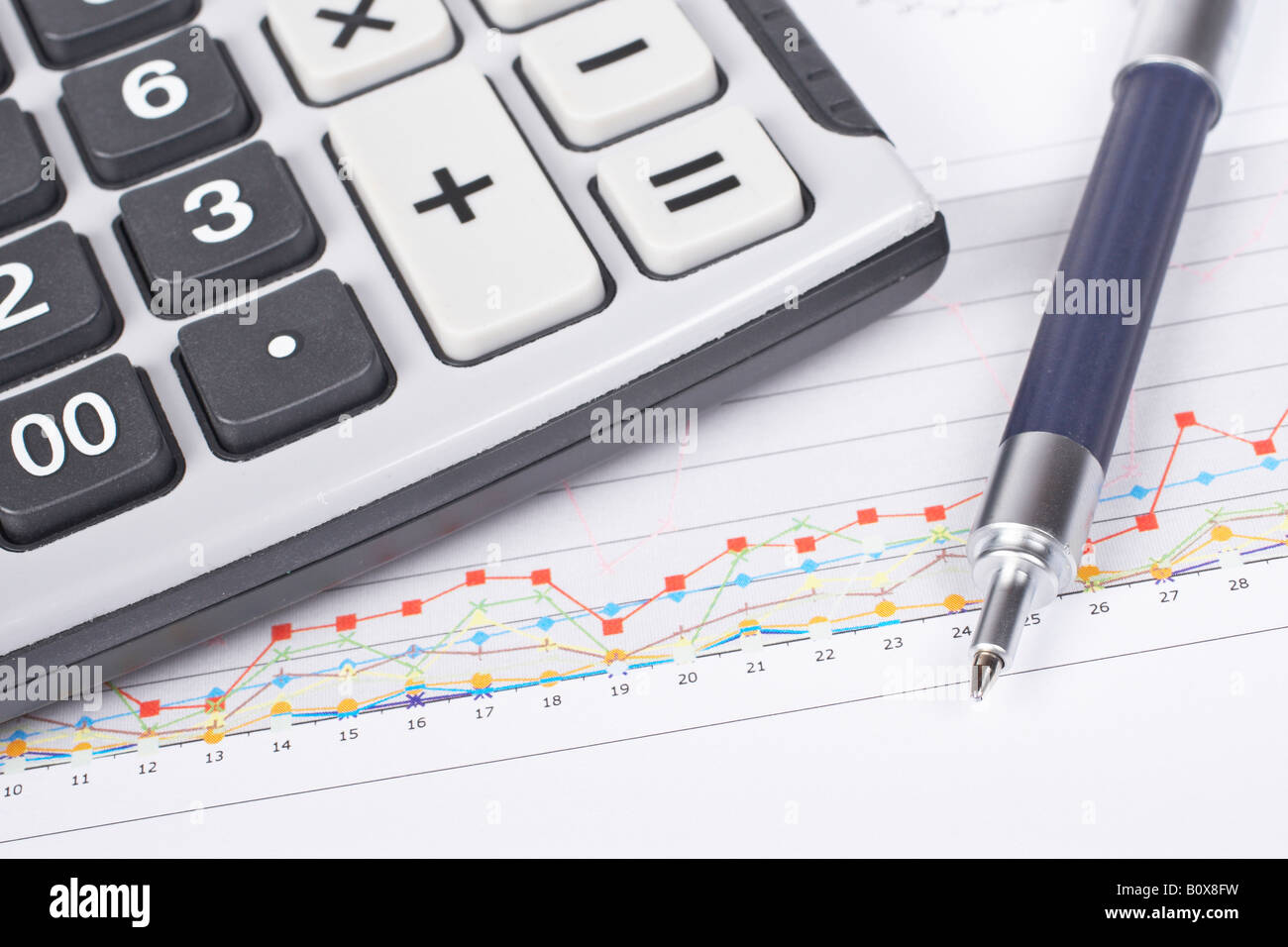 Calculator and pen on earnings chart background shallow depth of calculator and pen on earnings chart background shallow depth of field ccuart Images