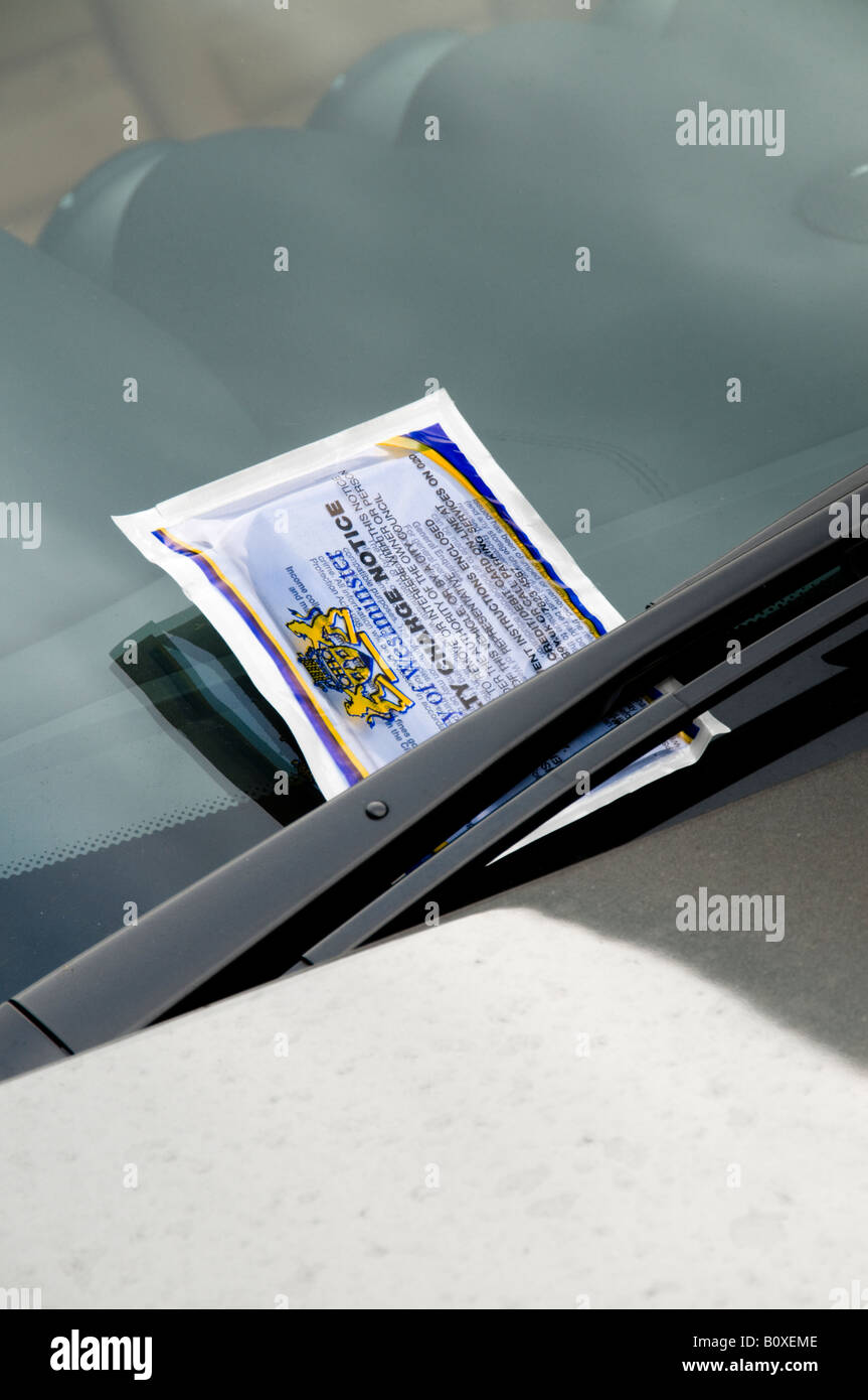 Penalty Charge Notice on windscreen, London, England - Stock Image